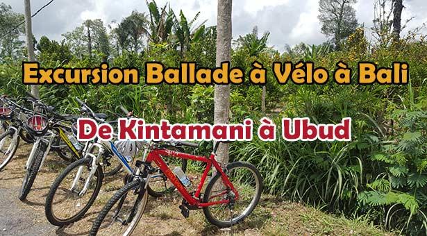 Excursion à Bali en Vélo VTT de Kintamani Batur à Ubud